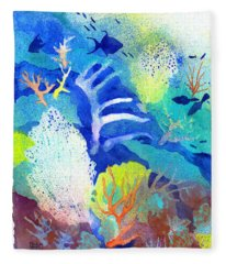 Coral Reef Dreams 3 Fleece Blanket
