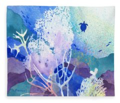 Coral Reef Dreams 5 Fleece Blanket