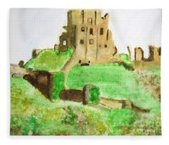 Corfe Castle Fleece Blanket