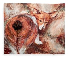 Corgi Butt Fleece Blanket