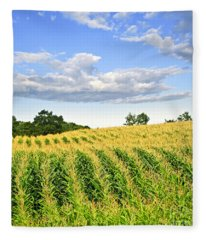 Corn Field Fleece Blanket
