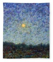 Cornbread Moon - Square Fleece Blanket