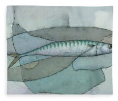 Cornish Mackerel Fleece Blanket