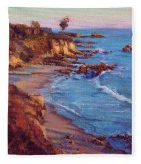 Corona Del Mar / Newport Beach Fleece Blanket
