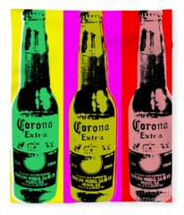 Corona Beer Fleece Blanket