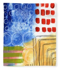 Corridor- Colorful Contemporary Abstract Painting Fleece Blanket