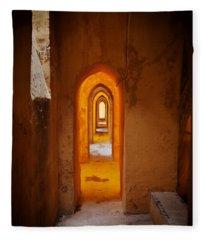Corridor In The Real Alcazar Of Seville Fleece Blanket