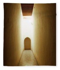 Corridor Inside The Bahia Palace Fleece Blanket