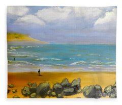 Corrimal Beach Fleece Blanket