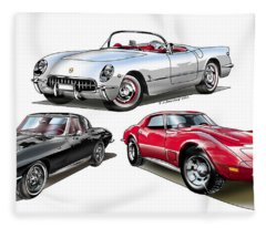 Corvette Generation Fleece Blanket
