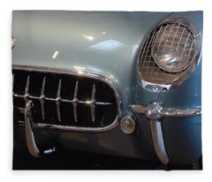 Corvette Roadster 1955 Fleece Blanket
