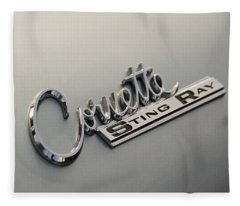 Corvette Sting Ray Fleece Blanket