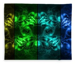 Cosmic Alien Eyes Pride Fleece Blanket