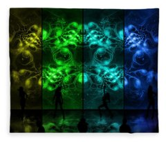 Cosmic Alien Vixens Pride Fleece Blanket