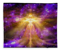Cosmic Angel Fleece Blanket