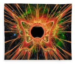 Cosmic Butterfly Phoenix Fleece Blanket