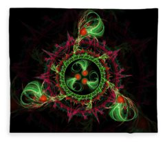 Cosmic Cherry Pie Fleece Blanket