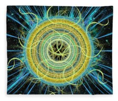 Cosmic Circle Fusion Fleece Blanket