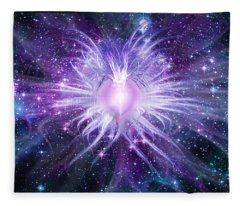 Cosmic Heart Of The Universe Fleece Blanket