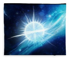 Cosmic Icestream Fleece Blanket