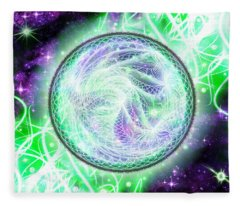 Cosmic Lifestream Fleece Blanket