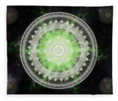 Fleece Blanket featuring the digital art Cosmic Medallians Rgb 1 by Shawn Dall