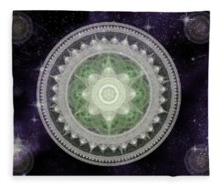 Cosmic Medallions Earth Fleece Blanket
