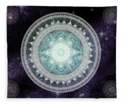 Cosmic Medallions Water Fleece Blanket