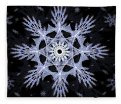 Cosmic Snowflakes Fleece Blanket