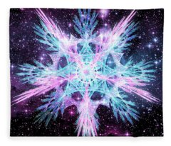 Cosmic Starflower Fleece Blanket