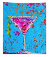 Cosmopolitan Martini Cherry Flavored - Modern Art Fleece Blanket