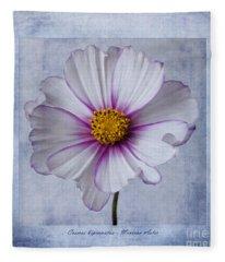 Cosmos With Textures Fleece Blanket