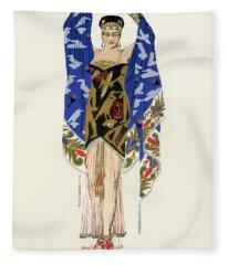 Costume Design For A Dancing Girl Fleece Blanket