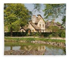 Cottage In The Hameau De La Reine Fleece Blanket