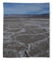 Cottonball Basin At Death Valley Fleece Blanket