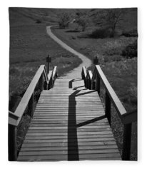 Coulee Stairs Fleece Blanket