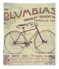 Coulmbias Bicycle Company Vintage Artwork Fleece Blanket