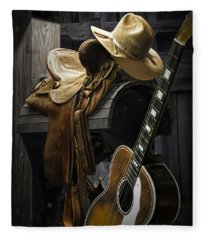 Country And Western Music Fleece Blanket