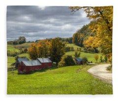 Country Farm Fleece Blanket