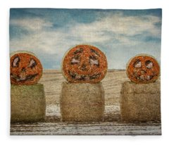 Country Halloween Fleece Blanket
