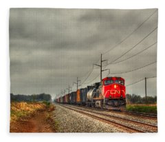 Country Train 1 Fleece Blanket