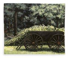 Country Wagon Fleece Blanket