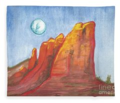 Court House Butte  Fleece Blanket
