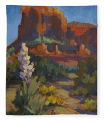 Courthouse Rock Sedona Fleece Blanket