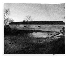 Covered Bridge Elizabethton Tennessee C. 1882 Fleece Blanket