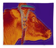 Cow Pop Art Fleece Blanket