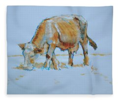 Cow Painting Fleece Blanket