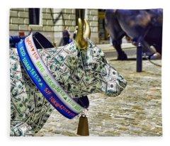 Cow Parade N Y C  2000 - Live Stock Cow Fleece Blanket