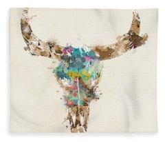 Bull Fleece Blankets