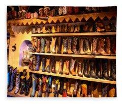 Cowboy Boots Fleece Blanket